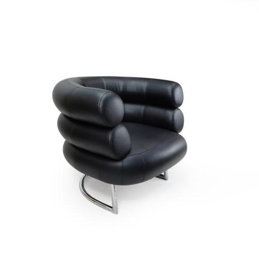 Vintage Bibendum Chair by Eileen Gray for Vereinigte Werkstatte or Classicon in Black Leather
