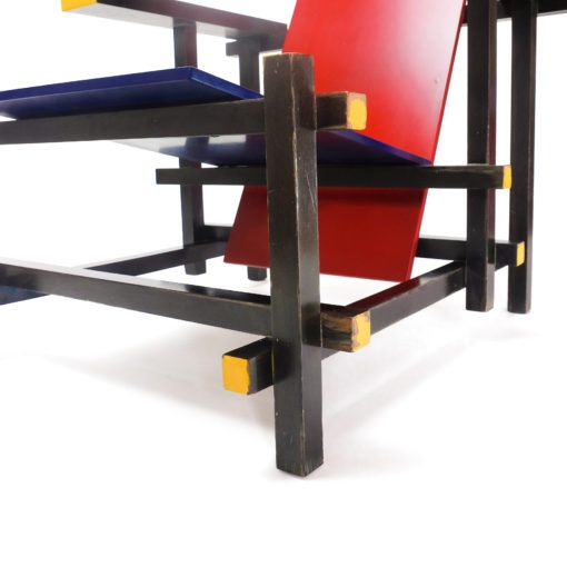 Vintage Red Blue Chair Rietveld for Cassina