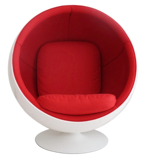 Ball Chair in Red Kvadrat Divina for Adelta by Eero Aarnio for sale