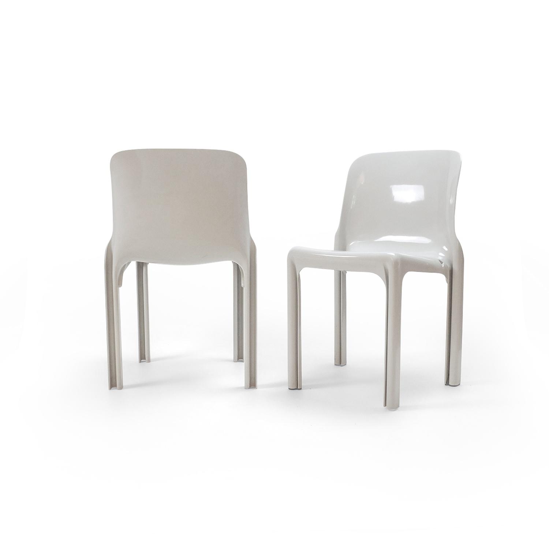 Vintage Sélène Chairs by Vico Magistretti for Artemide