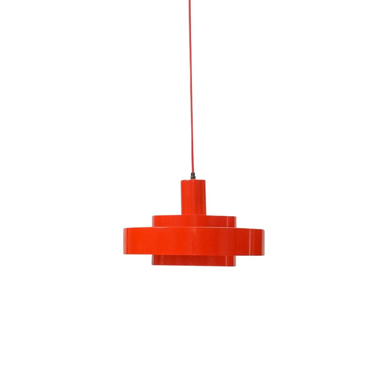 vintage Red Equator Pendant by Jo Hammerborg for Fog & Mørup