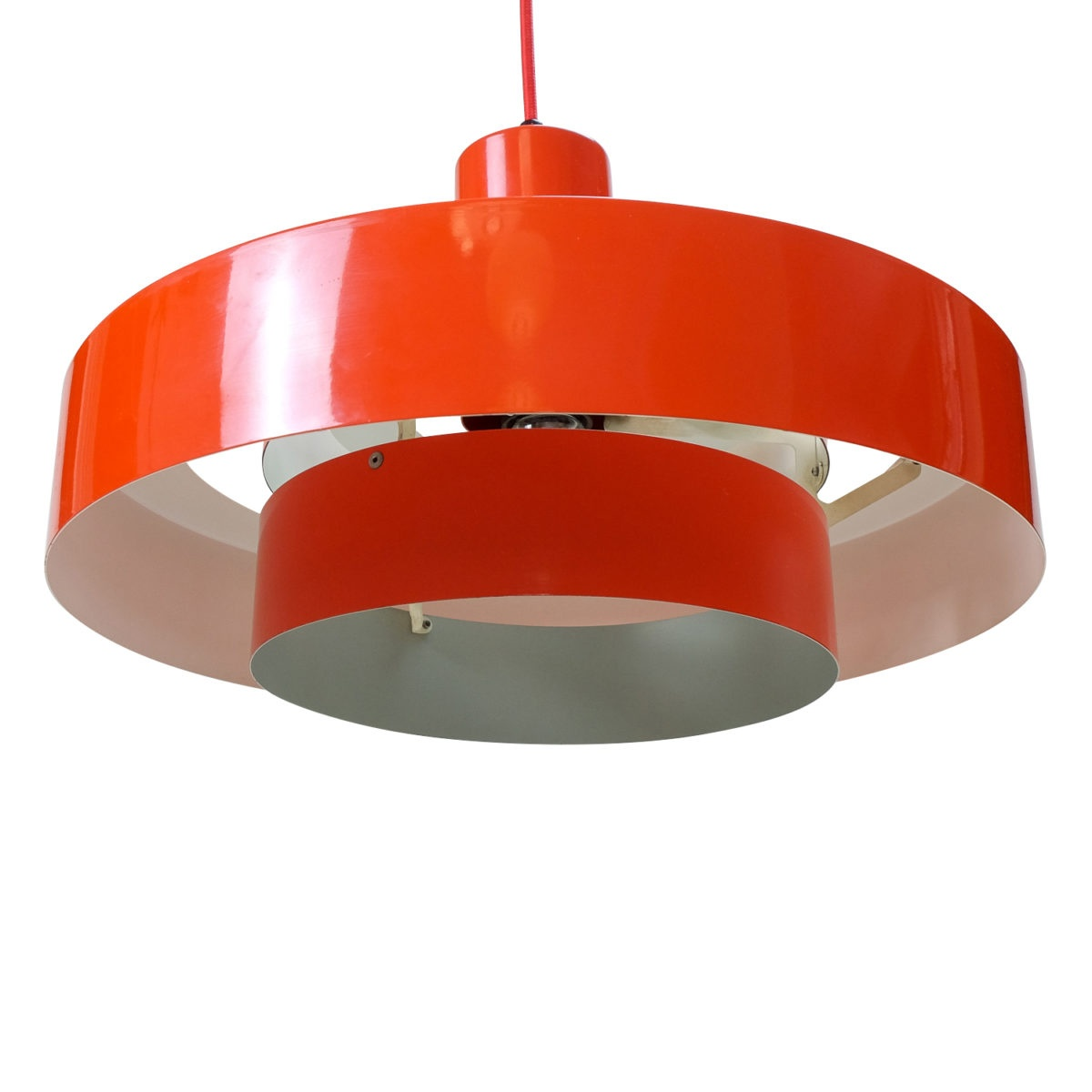 vintage Red Equator Pendant by Jo Hammerborg for Fog & Mørup