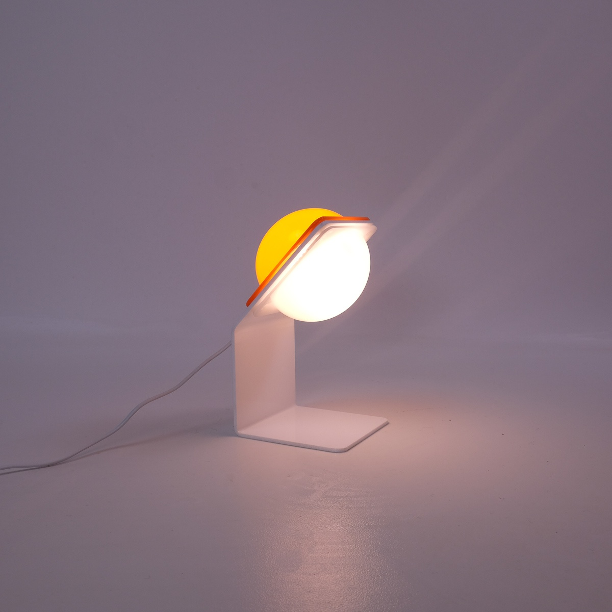 Vintage Lampe de table Guzzini Orange Italie