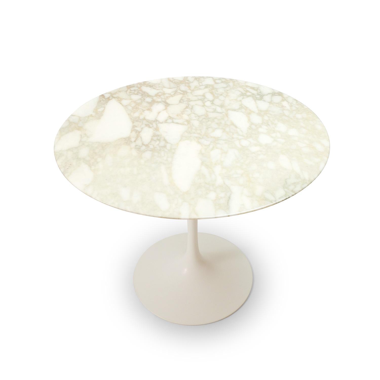 White Marble Tulip Table by Eero Saarinen for Knoll International, 1970s