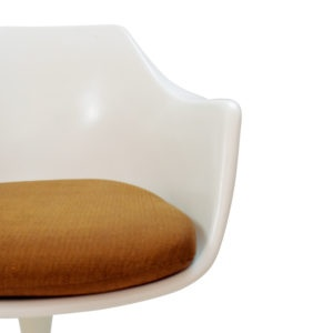 Vintage White Arkana Swivel Chair by Burke, now for sale. English Vjntage Design. Inspired by Saarinen, Knoll.