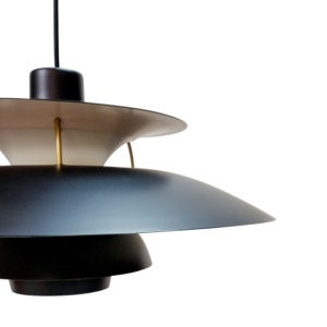 Vintage PH5 in Black by Louis Poulsen, Design Poul Henningsen