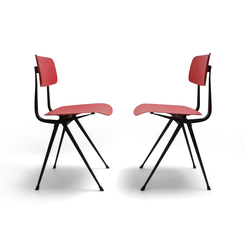 Vintage Pair of Friso Kramer Chairs Pink
