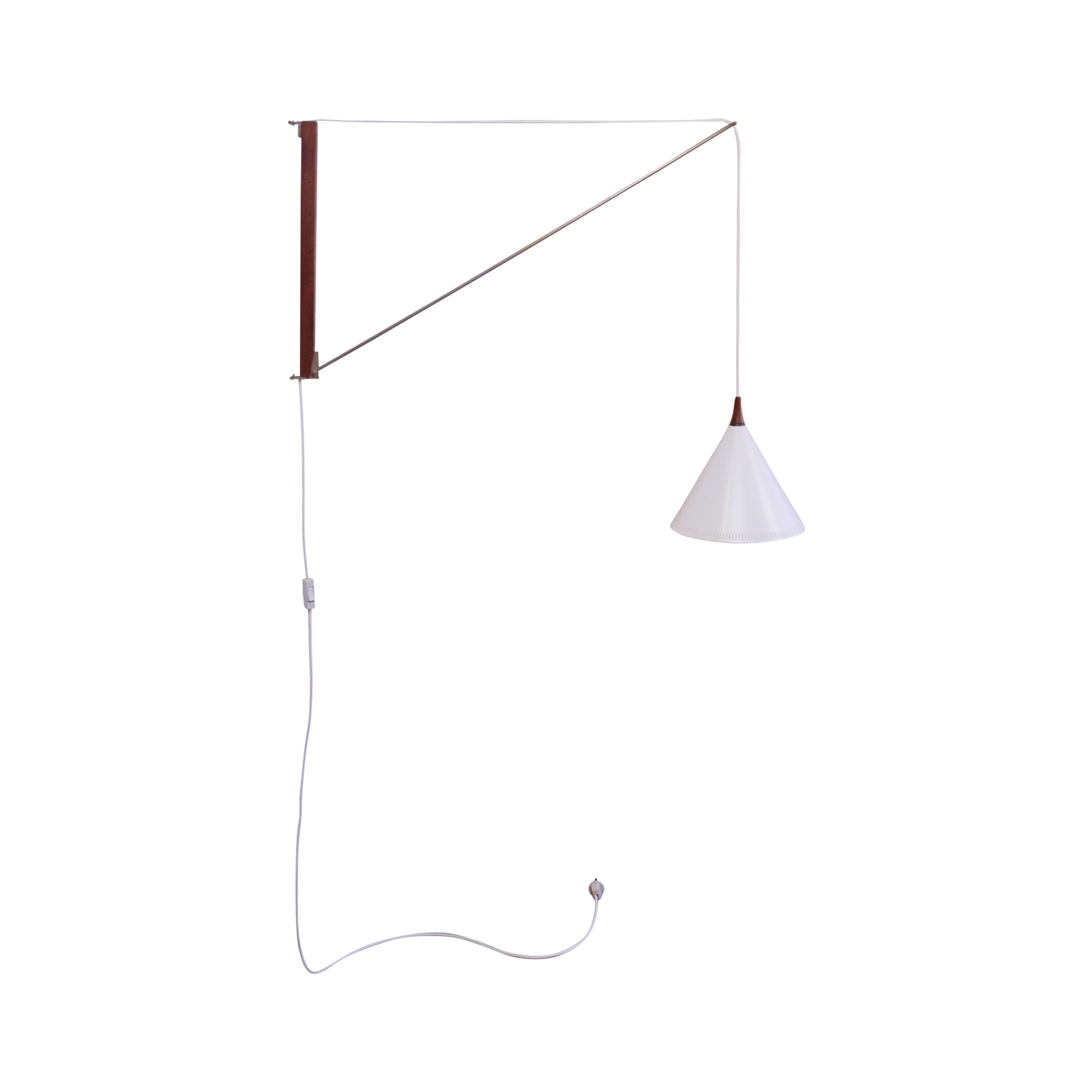 Hagoort Wall lamp white, and vintage perfect condition for sale