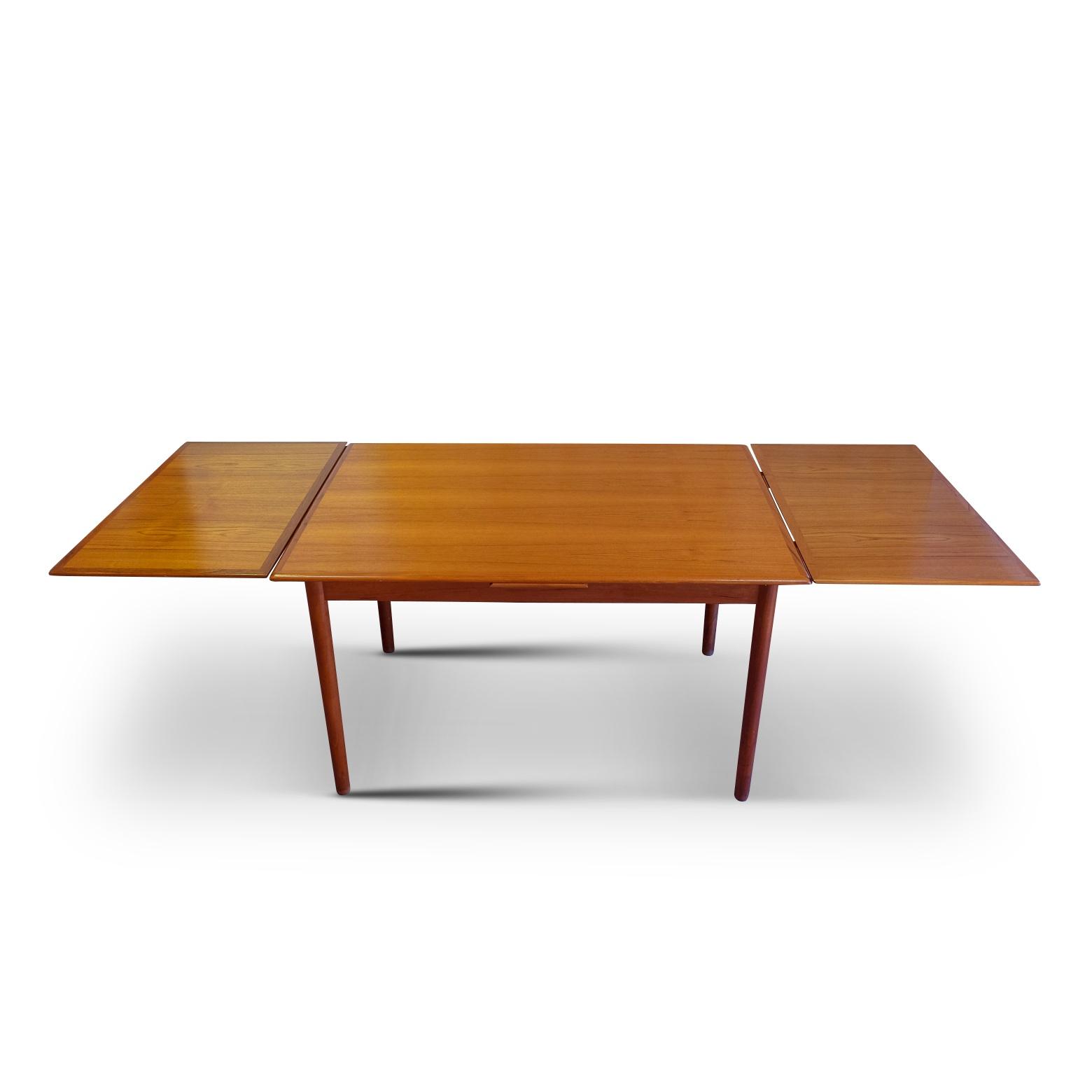 Teak Dining Table, Danish origin and good vintage condition.