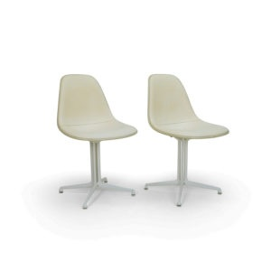 Vintage Eames La Fonda Side Chairs Herman Miller Naugahyde