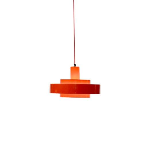 Vintage Equator ceiling lamp by Fog Morup Red Ceiling Lamp