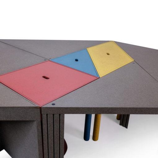 Vintage Cassina Tangram Table Massimo Morozzi