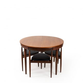 Frem Rojle Table and chairs roundette by Hans Olsen