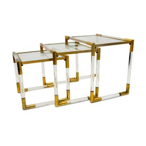 Charles Hollis jones vintage from 1970s, nesting table at Symple Design Suisse