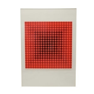 Vasarely Silk Screen print from the 1960s signed by artist