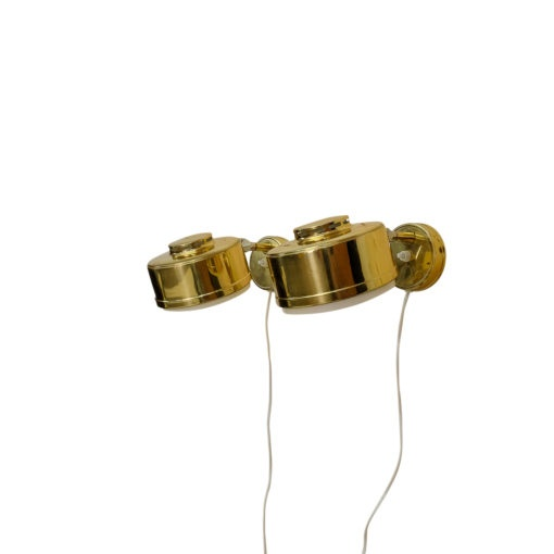 Vintage Pair of Swedish Sconces, gold coloured, for sale mobilier vintage Suisse