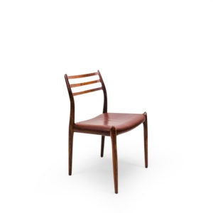 Rosewood Chair number 78 danish vintage from the 1950s
