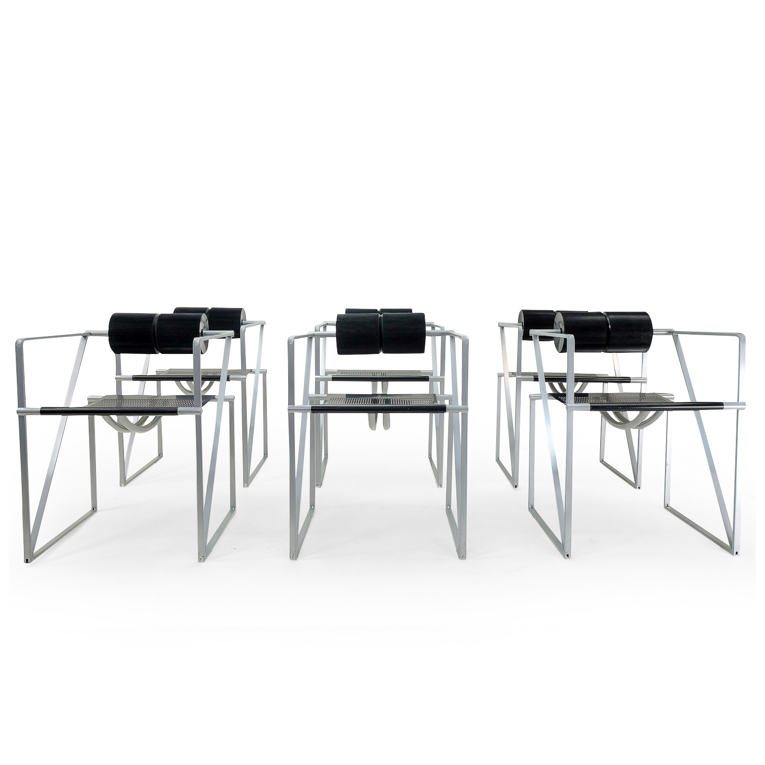 Vintage Seconda Chairs by Mario Botta, set of 6. 1980s Mobilier Vintage Design, Suisse Romande