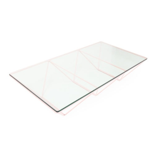 Pink structure, Alanda Coffee Table by Paolo Piva 1980s