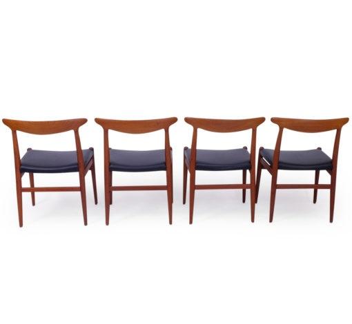 Hans Wegner Teak W2 dining Chairs, 1960s Vintage by CM Madsen