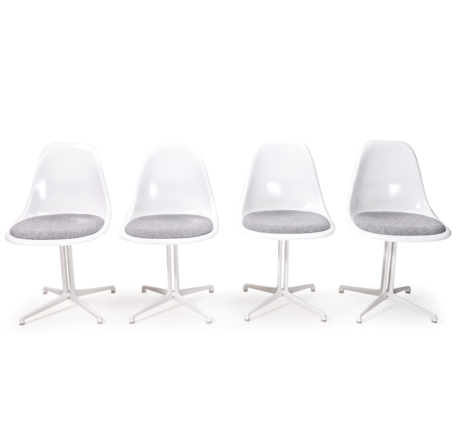 Herman miller Side Chair on la fonda base white