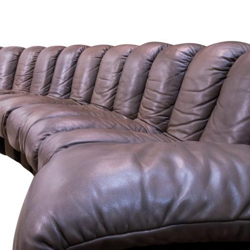 De Sede DS-600 Snake sofa in brown vintage leather