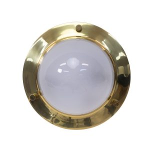 Vintage Italian round wall or ceiling lights in brass by Luigi Caccia
