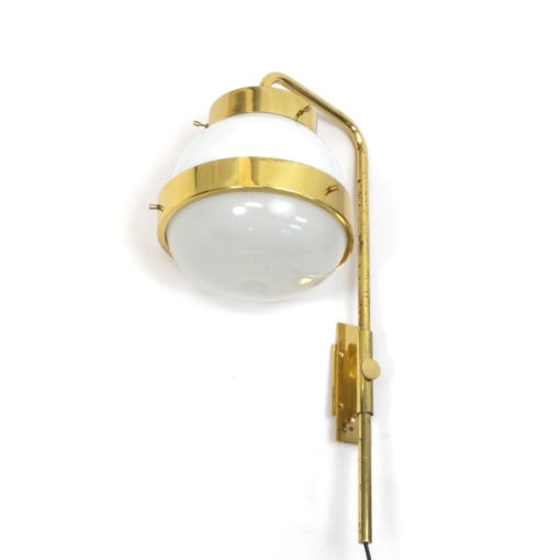 Vintage Polished brass Italian wall lamp from the 1960s by Sergio Mazza, for Artemide