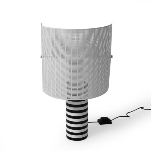1980s Mario Botta Shogun Table Lamp black white striped. Vintage.