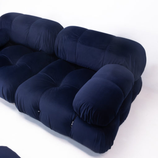 Dark Blue Velvet Camaleonda Sectional Sofa by Mario Bellini for C&B B&B Italia, 1970s price For sale