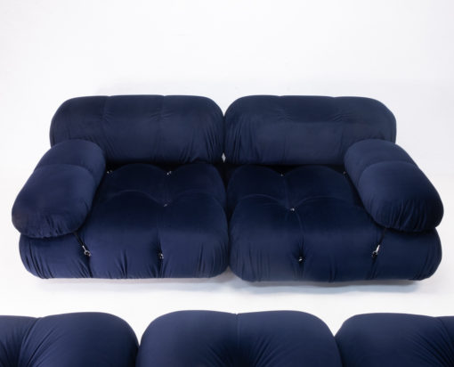 Dark Blue Velvet Camaleonda Sectional Sofa by Mario Bellini for C&B B&B Italia, 1970s For sale
