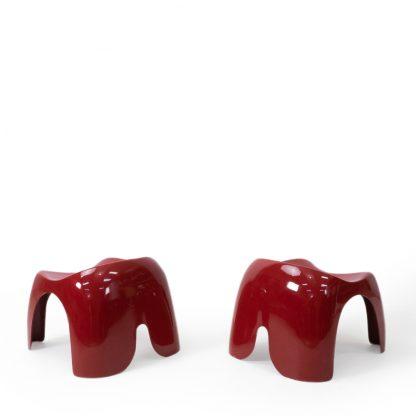 Efebino Children's stools vintage red