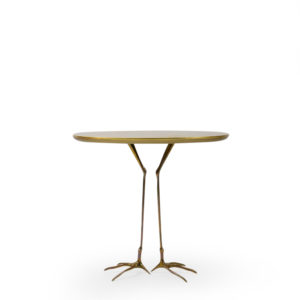 Gold Leaf Side Table Traccia by Oppenheim for Simon