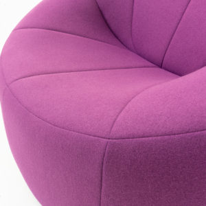 Ligne Roset by Pierre Paulin Pumkin Lounge Chair wool fabric
