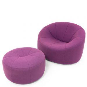 Ligne Roset by Pierre Paulin Pumkin Lounge Chair wool fabric