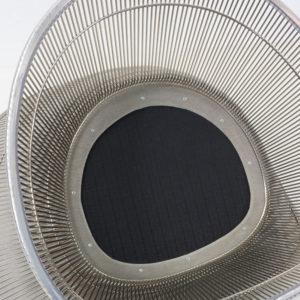 Knoll Metal Platner Chair Grey Velvet