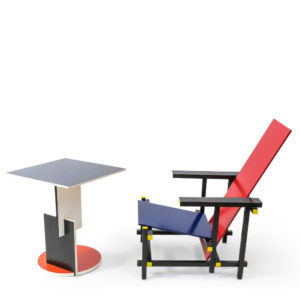 Rietveld side table Schroeder house by Cassina