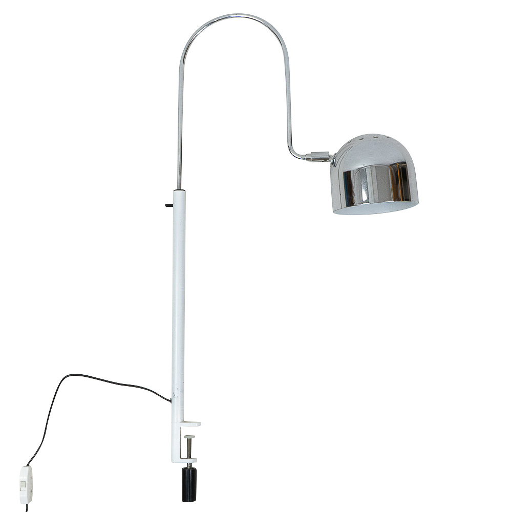 Stilnovo Table Lamp Chrome Hood Clamp