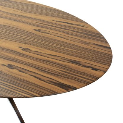 Florence Knoll metal base rosewood top oval table vintage