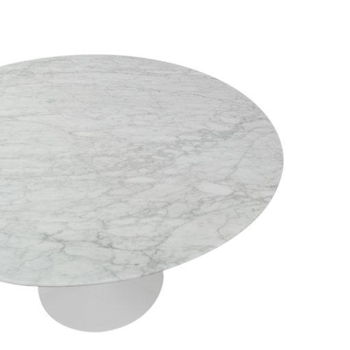 Knoll Eero Saarinen White Marble table, white base, vintage 1970s