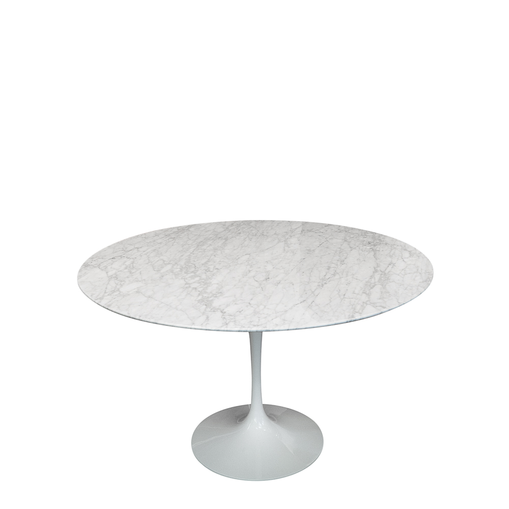 Knoll Eero Saarinen White Marble table, white base, vintage 1970s