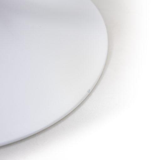 Eero Saarinen Knoll International Tulip Chair grey blue velour pillow