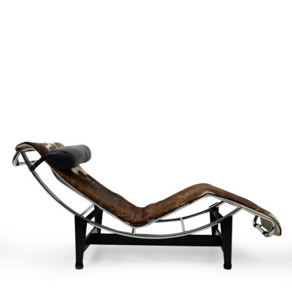 Vintage LC4 by Le Corbusier for Cassina Pony Skin for sale authentic