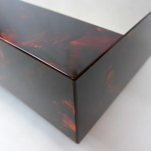 Vintage Bar Coffee Table with Glass top, Eric Maville
