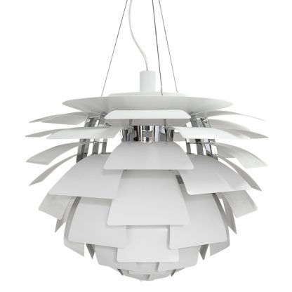 Authentic Artichoke lamp by Poulsen Poul Henningsen in white for sale