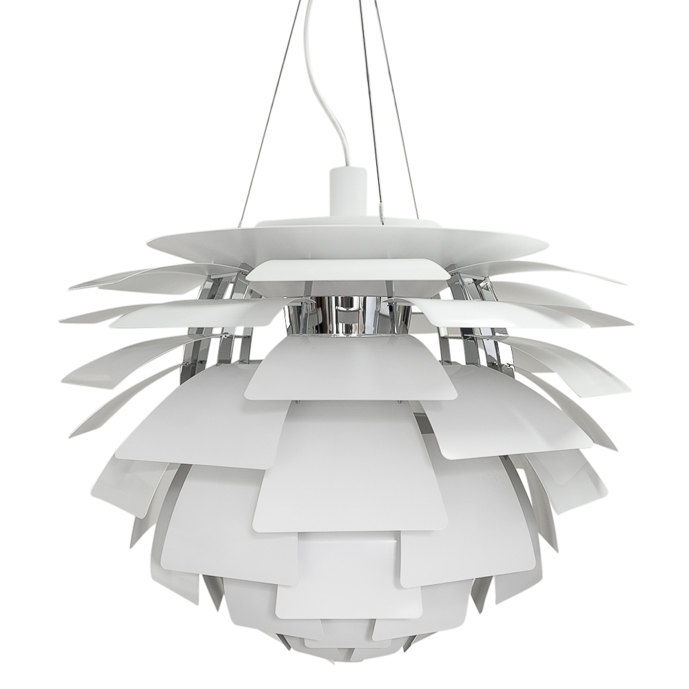 Authentic Artichoke lamp by Poulsen Poul Henningsen in white for sale