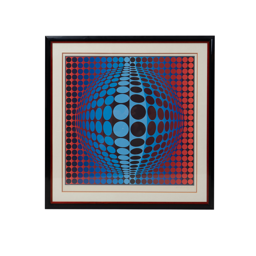 Original Victor Vasarely signed silkscreen print