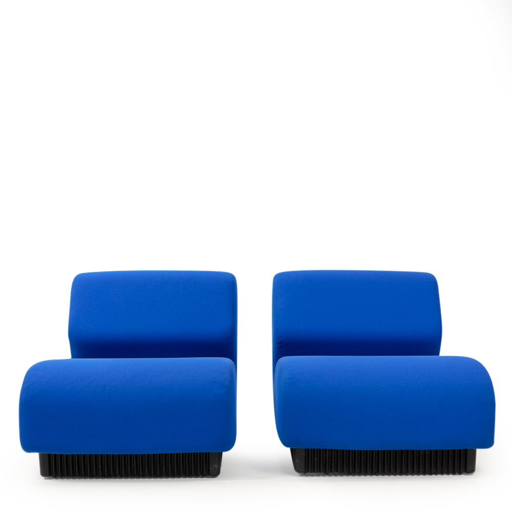 Don Chadwick vintage modular sofa in blue fabric by Herman Miller USA