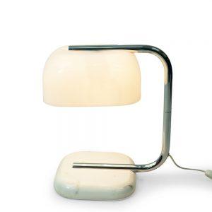 Guzzini Marble Lamp Table Vintage Italian 1970s