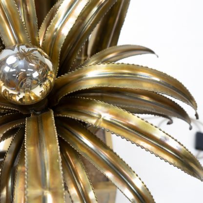 Maison Jansen Brass Floor Lamp Palmtree Vintage